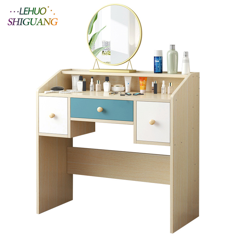 US $169.99 |Bedroom Dressers Wooden Dressing table With drawer cosmetic  organizer Storage cabinet fashion Laptop table bedroom Furniture-in  Dressers ...