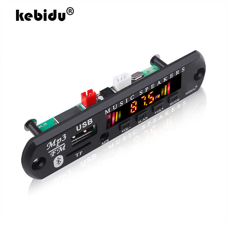 Kebidu 5V 12V Nirkabel Bluetooth 5.0 MP3 WMA Decoder Papan Audio Modul Mendukung USB TF AUX FM Audio radio Modul