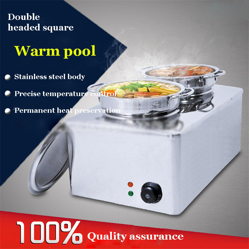 1PC FY-BO-2A Stainless Steel Soup Stove Commercial High Power Induction Cooker Environmental Energy Saving Double-head