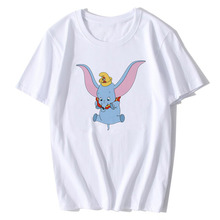 BTFCL Dumbo T Shirt Women Funny Elephant Camiseta Print T-Shirt Ladies America Movie Hot Cute 90s Animal Tshirt