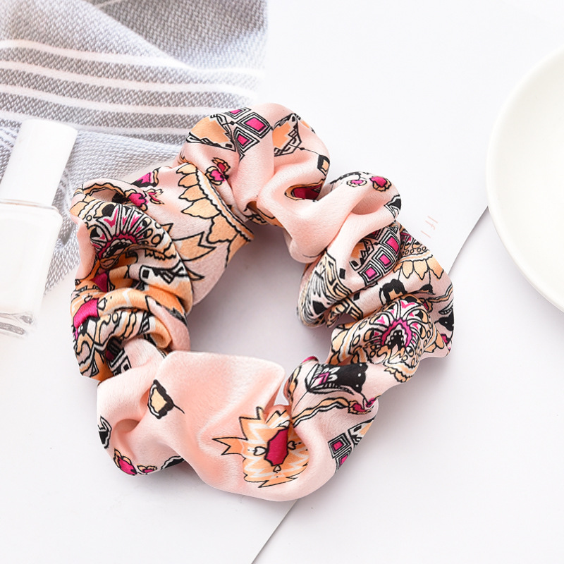 Купить с кэшбэком Soft Velvet satin Hair Scrunchie Girls Elastic Hair Rubber Bands Accessories For Women Tie Hair Ring Rope Ponytail Holder New