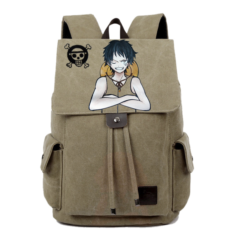 Anime One Piece Cosplay Canvas shoulder bag female Japanese and Korean college wind travel backpack student bag graffiti anime lovelive cosplay minami kotori cos2017 new japanese male and female middle school students big picture shoulder bag