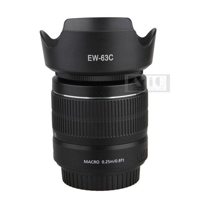 Dslr caméra lens hood 58mm ew-63c baïonnette pour canon 700d rebel t5i 100d avec ef-s 18-55mm stm objectif