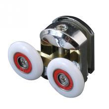 2 шт./компл. душевые раздвижные двери ролики для ванной кабины бегуны шкивы 25 мм легко скользить винт Крышка шапки Двойные колеса