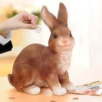 Piggy bank cartoon rabbit piggy bank child piggy bank gift rabbit coin jar birthday gift smallsweet resin pastoral home decor