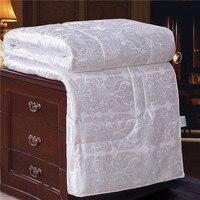 Всесезонные стеганые одеяла гипоаллергенного натурального шелка FillMachine моющиеся одеяло вставить или автономным Утешитель белый queen