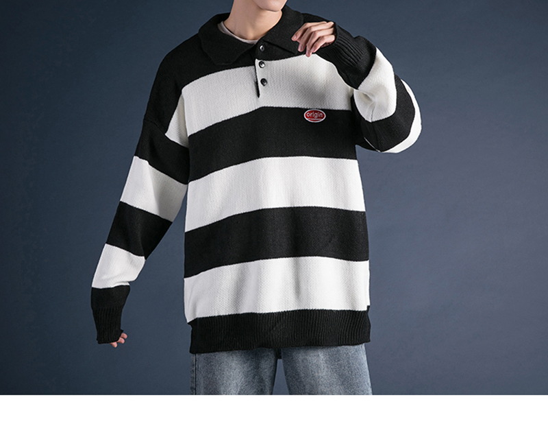 Korean Turtleneck Sweater Men Pullover Streetwear (23)