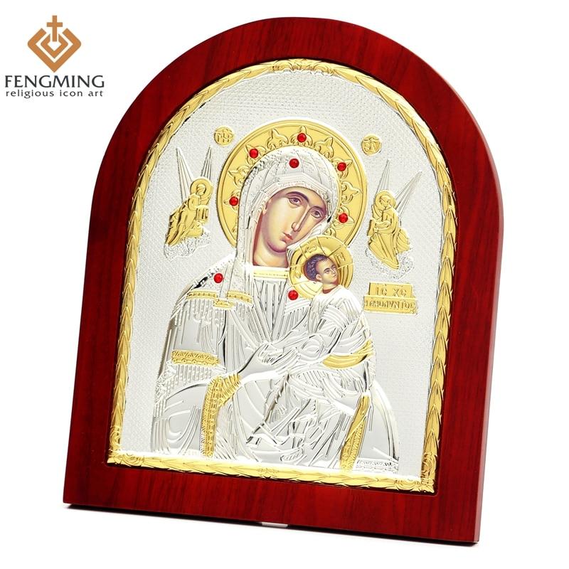 Καθολική ασημένια θεοτοκία Βυζαντινή - Διακόσμηση σπιτιού