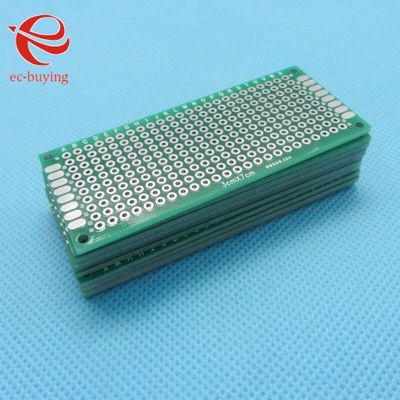 595581dcb 5 sztuk Dwustronnie Miedź Prototyp PCB Rozwoju Konserwy Uniwersalna Deska  Eksperymentalna Płyta 30x70mm 3x7 cm