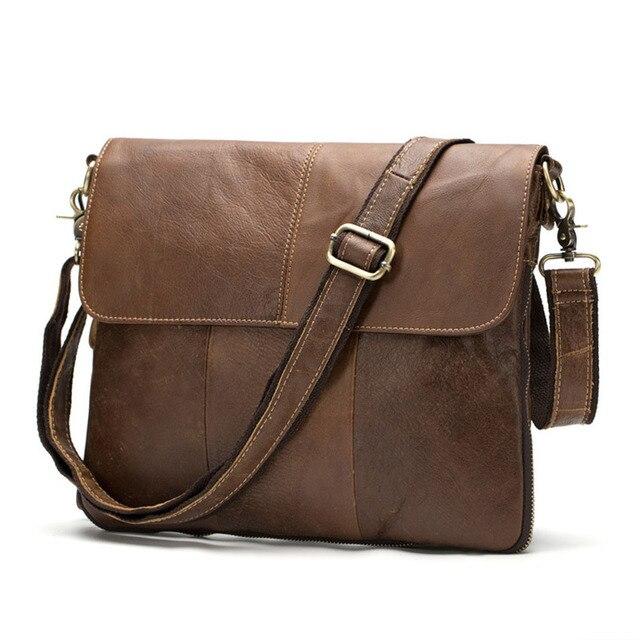 51f7f423d9 Hot Sell Genine Leather Men Casual Bag Men Shoulder Bag Genuine Cow Leather  Men Messenger Bags Crossbody Bags For Men