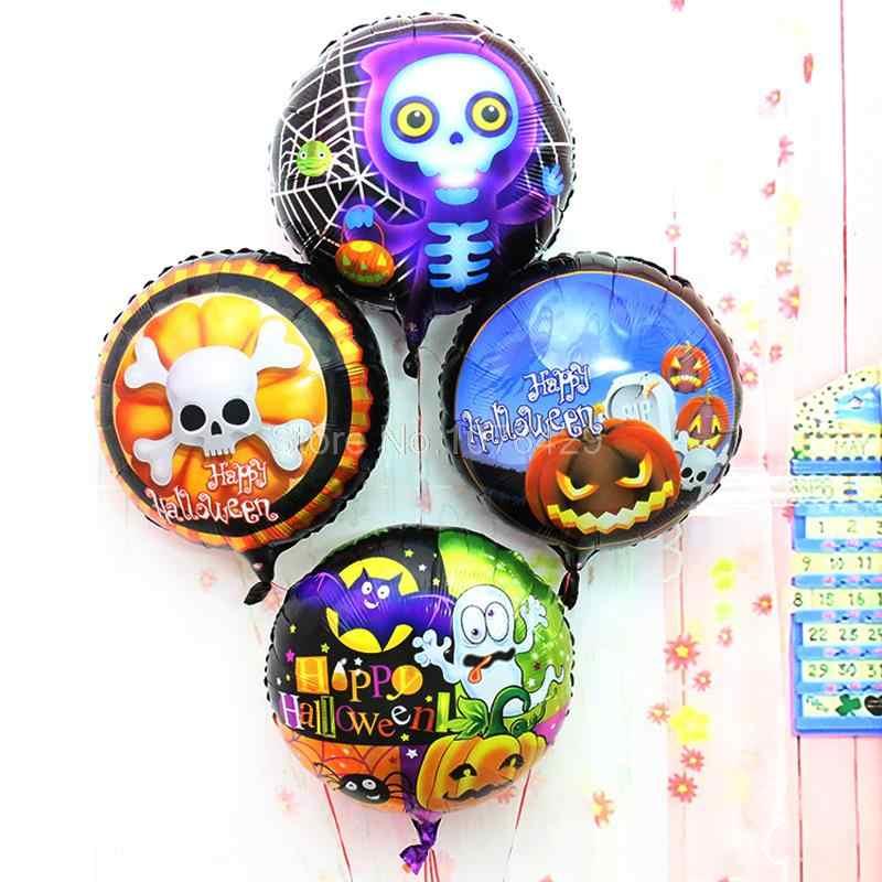 1 Pcs Carnival ฮาโลวีนค้างคาว Handheld Wand ฟักทองรองเท้า & Cat รูปร่างฟอยล์บอลลูน Haunted House ตกแต่งรูปแบบ 1-24