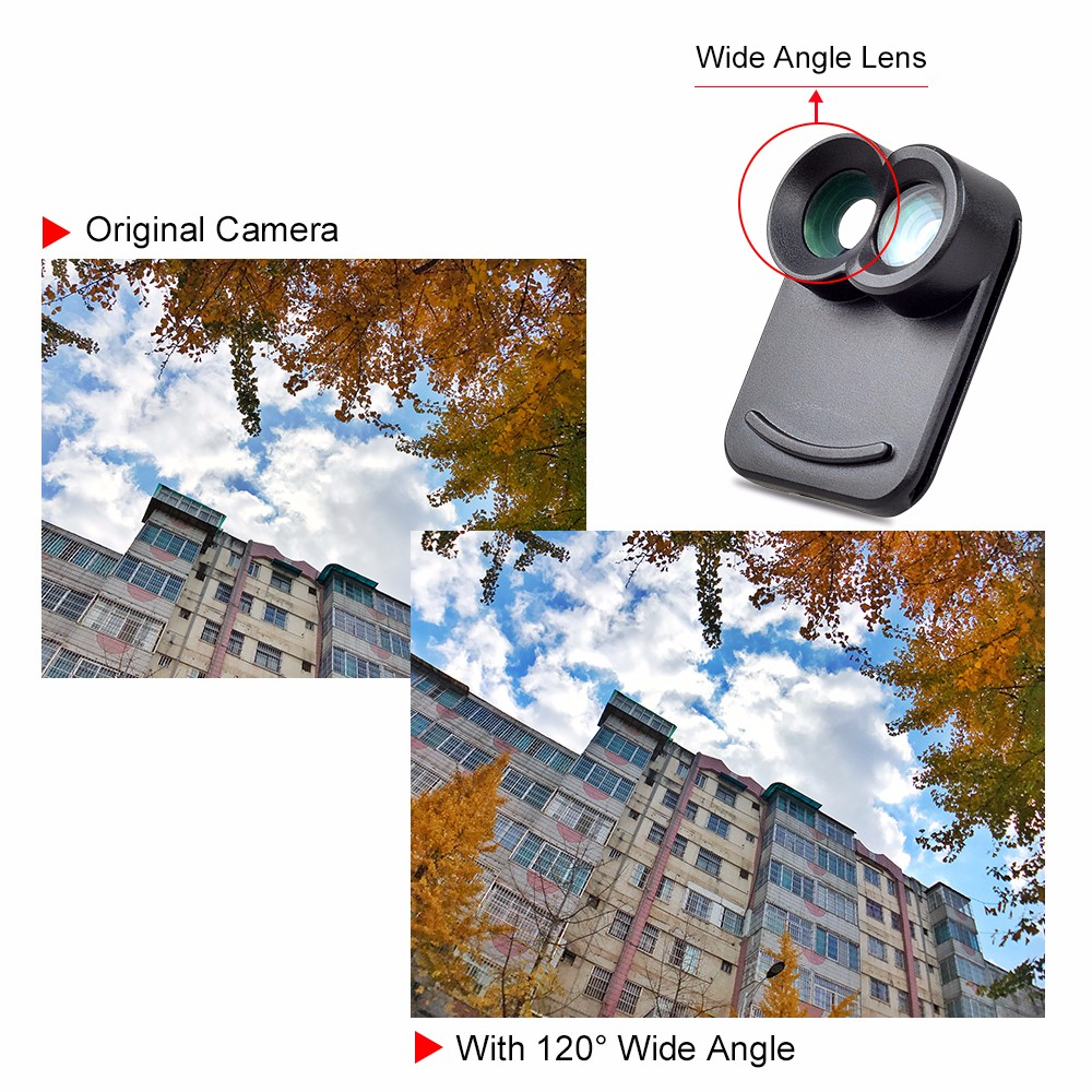 APEXEL Dual Lens fisheye wide angle macro telescope camera lens kit with back case For iPhone 7 plus 8