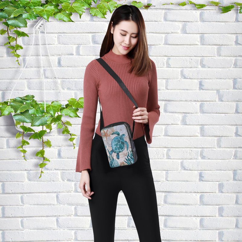 CROWDALE Women Crossbody Bags Marine life Printing for Kids Girls Casual Mini Female Children Messenger Bags Bolsos Mujer 6