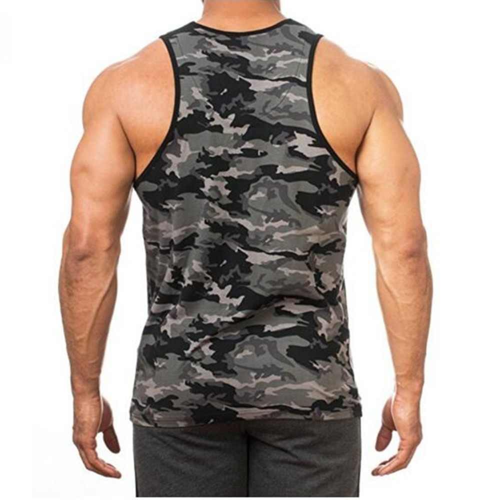 1353cc27addb9 ... Men s clothing 2018 New Man s Sleeveless Camouflage Vest Breathe Quickly  Dry Tank Tops M-XXXL