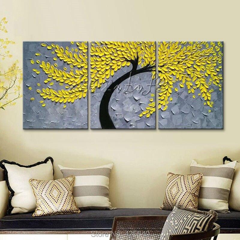 Malířské plátno Malířský nůž 3D textury akryl strom malování Nástěnné umění Obrázky pro obývací pokoj domácí výzdoba cuadros decoracion02