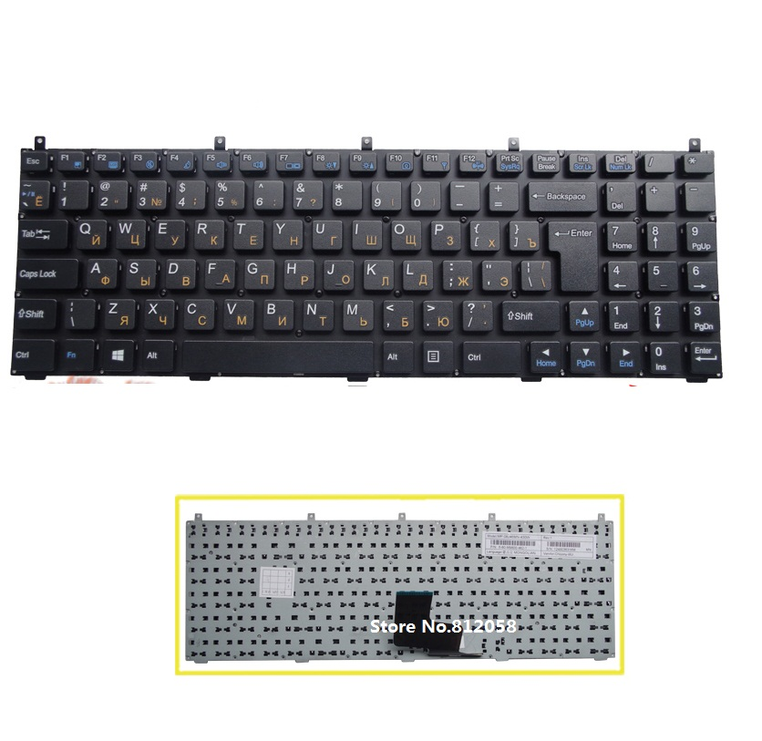 laptop RU Keyboard for Casper W76 W760 W762 W765 W765S CLEVO PHILCO 15A SIM2000 Russian