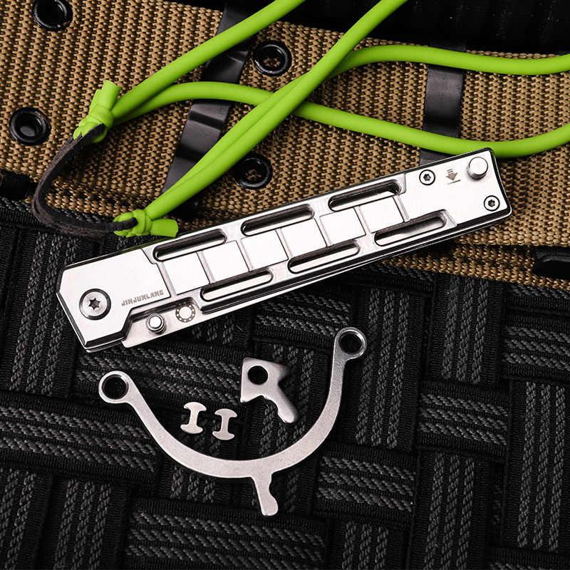 חיצוני multi-פונקצית כיס סכין בליסטרא ציד EDC כלי טקטי Combat פי להב פלדת הקלע סכיני הישרדות סכין