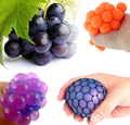 2pcs/lot Anti Stress Face Reliever Grape Ball Autism Mood Squeeze Relief Healthy Toy Funny Geek Gadget Vent Toy for Kids