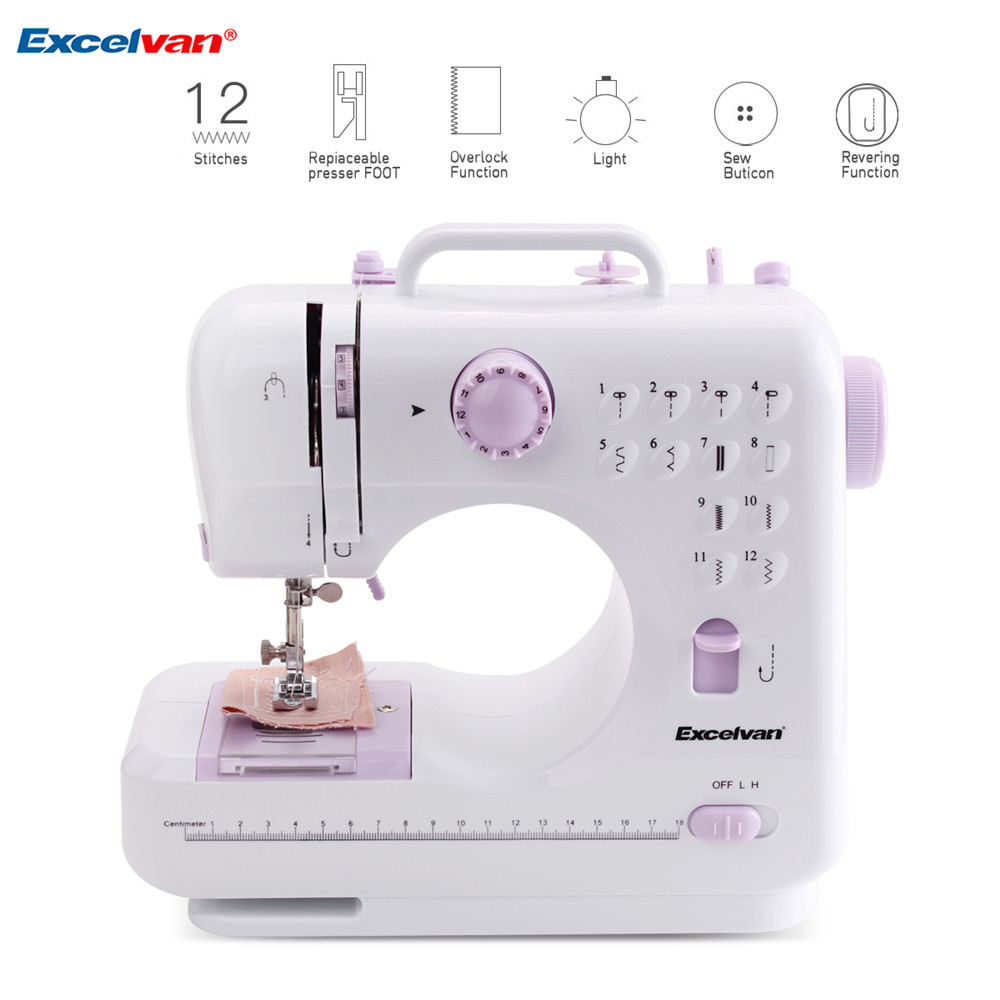 ExcelvanMini Handheld sewing machines Dual Speed Double Thread Multifunction Electric Automatic Tread Rewind Sewing Machine Gift4