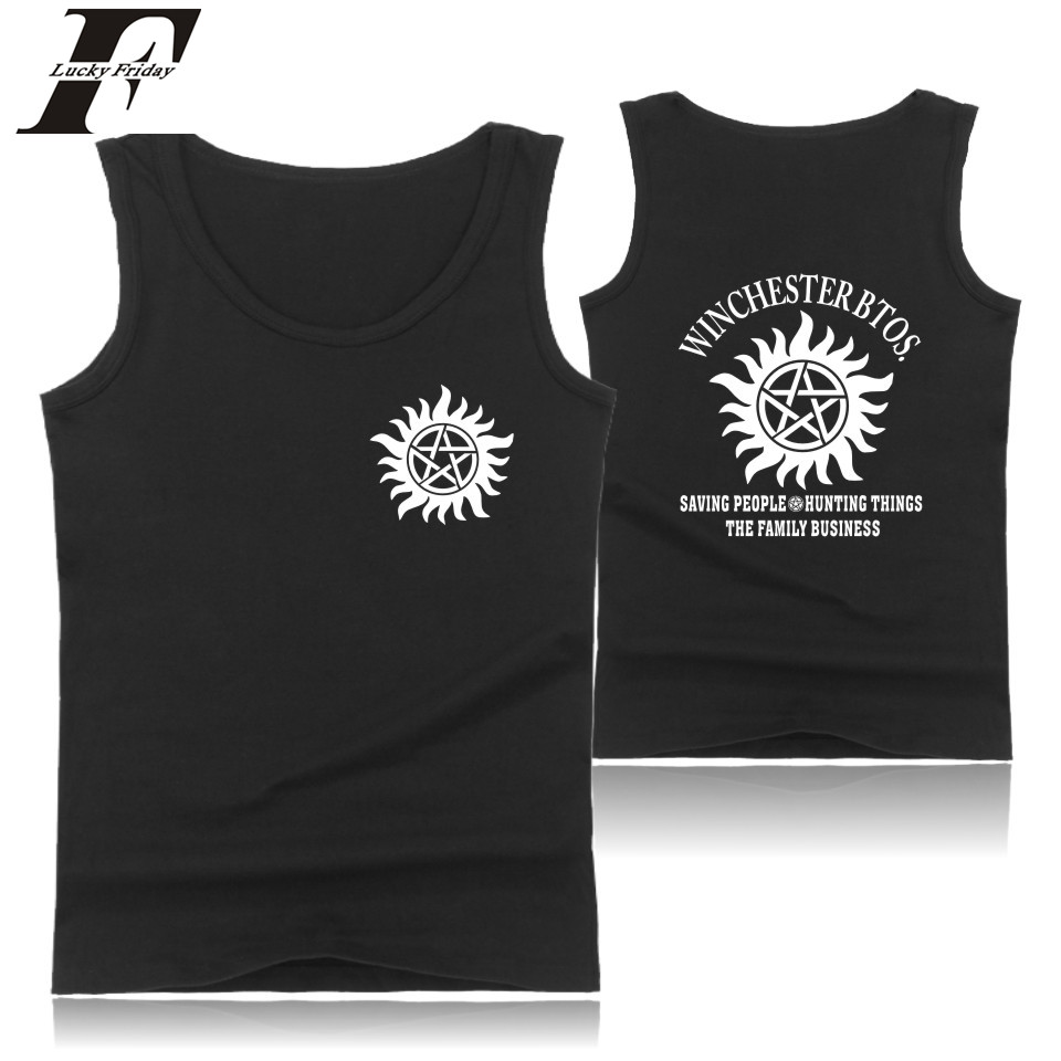 Supernatural   Tank     Tops   Men bodybuilding Summer Vests in Supernatural Fashion Bodybuilding Sleeveless Shirt clothing