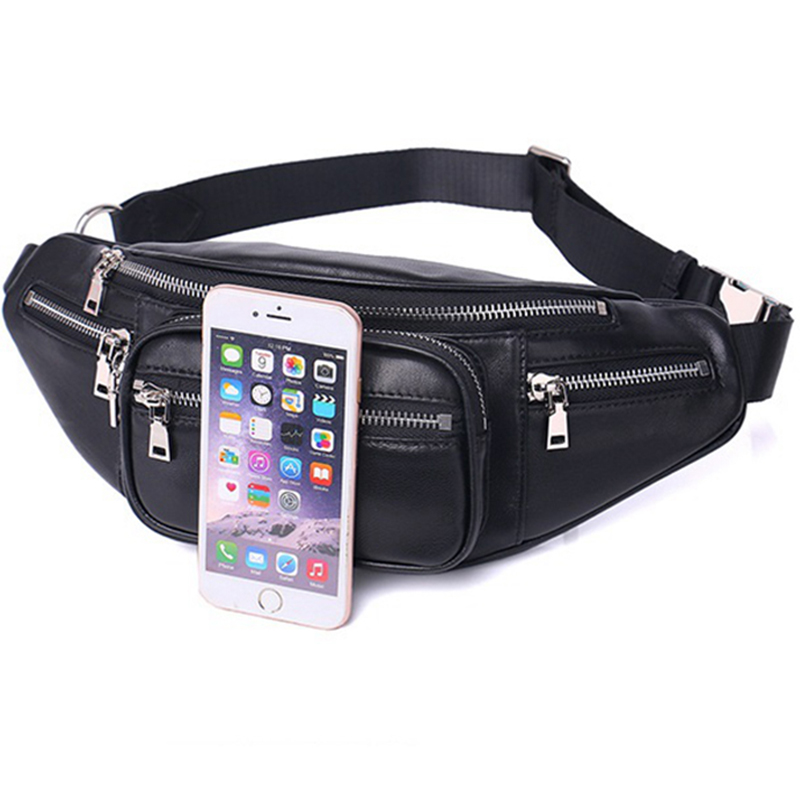 46328c47883e Belt Bag Waist Men Casual Fanny Pack Black Waist Packs for Women Pu Leather  High Quality 2018 New Spring Travel Chest Bag Male-in Waist Packs from  Luggage ...