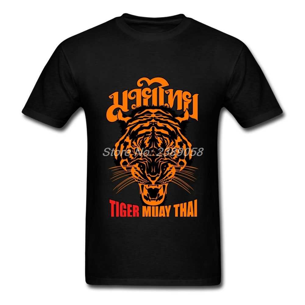 Merek mewah Pria T Shirt Keren Tiger Muay Thai Boxinger tshirt Musim Panas Top Lengan Pendek Kemeja Laki-laki Ditambah Ukuran