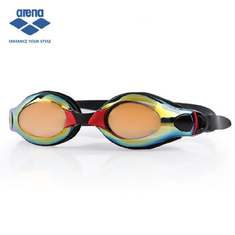 Arena Professional Anti Fog Waterproof Swimming Goggles Colorful Coating Anti UV Glasses Goggles font b Sports