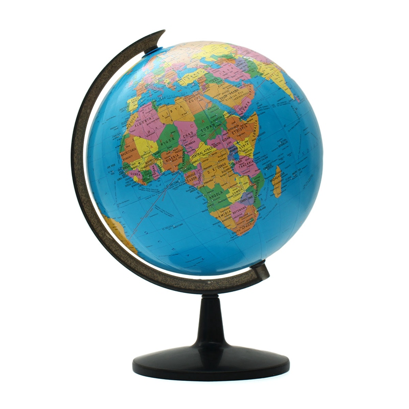 1pc 32cm world globe map ornaments with swivel stand home office 1pc 32cm world globe map ornaments with swivel stand home office office shop desk decor world map geography educational tool in educational equipment from gumiabroncs Image collections