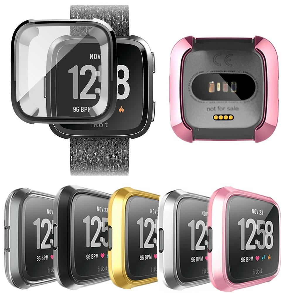 FleißIg 360 Grad Schutz Abdeckung Für Fitbit Versa Band Fall Überzug Coque Fit Bit Versa Uhr Zubehör Bildschirm Schutzhülle Capa Tragbare Geräte