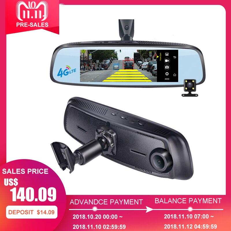 Phisung E09 7.84 4g support Spécial Voiture Caméra Miroir Android GPS DVR avec deux caméras WIFI dash cam ADAS À Distance Vidéo Enregistreur