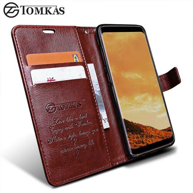 best website 2a9a2 41d15 TOMKAS Wallet Case For Samsung Galaxy S8 S8 Plus Original PU Leather ...