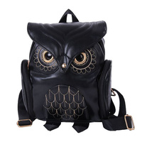 New Arrival Women Owl Backpack Women S Leather Backpack Feminina School Bag Mochila Feminina 2017 LXX9