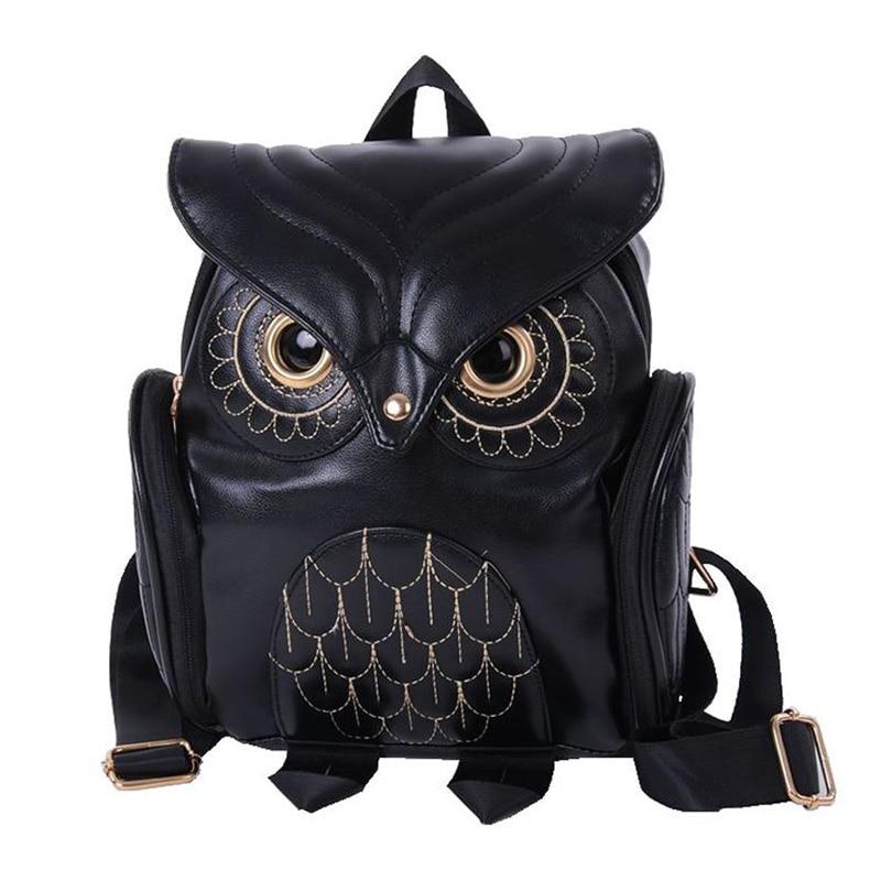 New Arrival Women Owl Backpack Women's Leather Backpack Feminina School Bag Mochila Feminina 2017  Lxx9