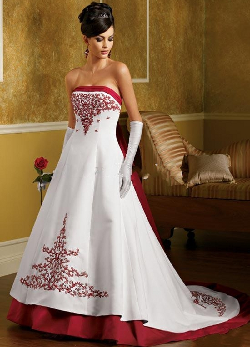 Online get cheap red wedding dresses china aliexpress white and red wedding dresses 2016 a line china satin weddingdress bridal bride dresses wedding gowns ombrellifo Choice Image