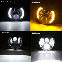 2pcs 7 Inch Round H Low Lm LED Headlight For Lada 4x4 Urban Niva For Jeep