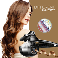 Professional Auto Rotating Hair Curler Iron Spiral Hair Best Heat steamer Curl Iron Universal Voltage Salon Tools.