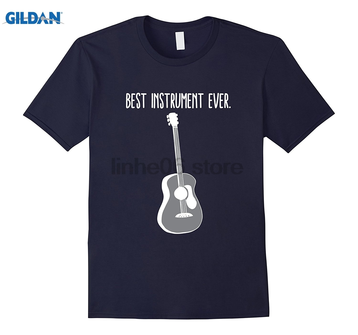 GILDAN Acoustic Guitar Shirt Best Instrument Ever Strings Tuner Pic Hot Womens T-shirt