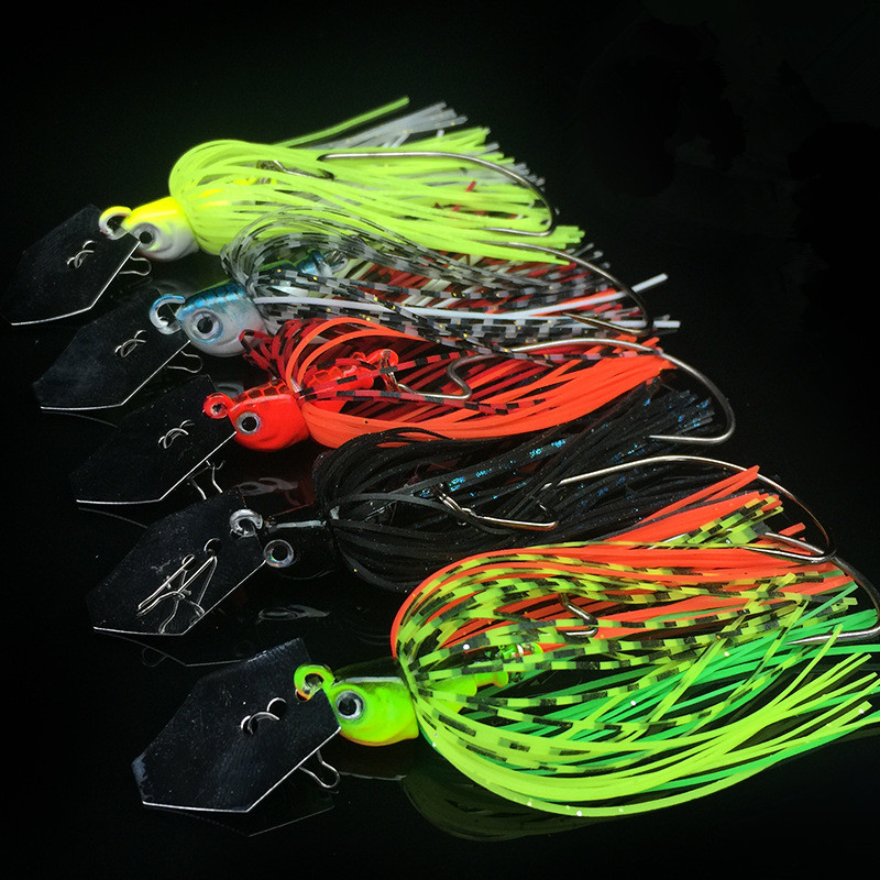 Buzzbait Fishing Lure Rubber Jig Compound Bait Finness Chatter Spinner Spoon Artificial Fish Jigs Head 7cm/10g 1 Piece Sale 10pcs 7 5cm soft lure silicone tiddler bait fluke fish fishing saltwater minnow spoon jigs fishing hooks