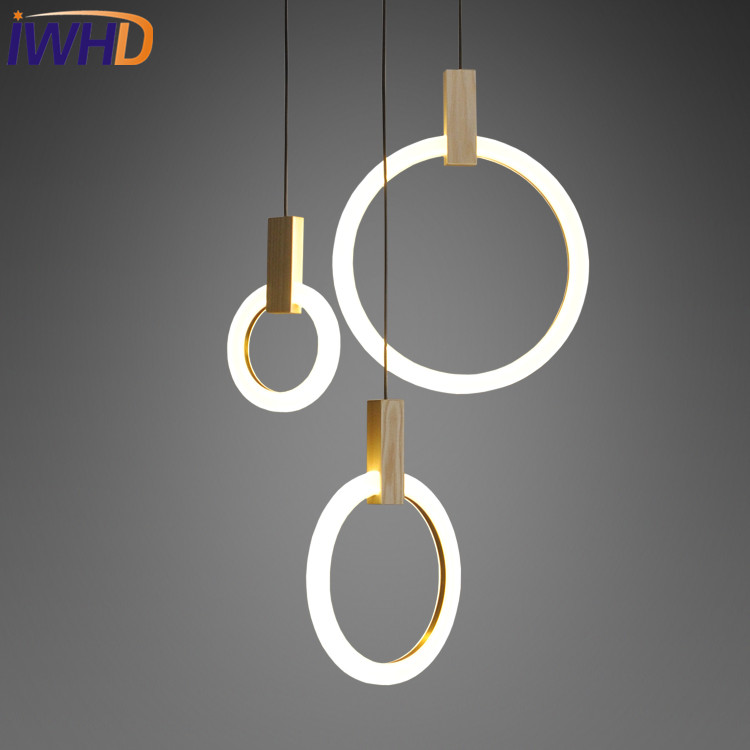 IWHD Simple Creative Round Acrylic Droplight Modern LED Pendant Lamp Fixtures Dining Room Hanging Light Fixtures Home Lighting iwhd loft style creative 3 head iron glass droplight modern led pendant lamp fixtures dining room hanging light home lighting