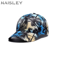 NAISLEY Fashion Trend Digital Printing Coconut Tree Baseball Cap Men Women Hat Truck Hats Cap Outdoor