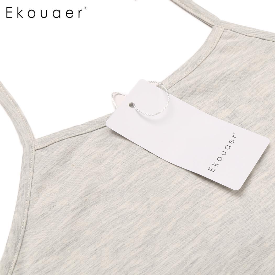 7138e84cb4 Ekouaer Zomer Print Bloemen Pajama Vrouwen Halter Mouwloze Crop Top en  Shorts Lounge Nachtkleding Sexy Blootgesteld Navel Pyjama Set in Ekouaer  Zomer Print ...