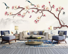beibehang Customized new Chinese flower and bird olive tree European American modern background papel de parede 3d wallpaper