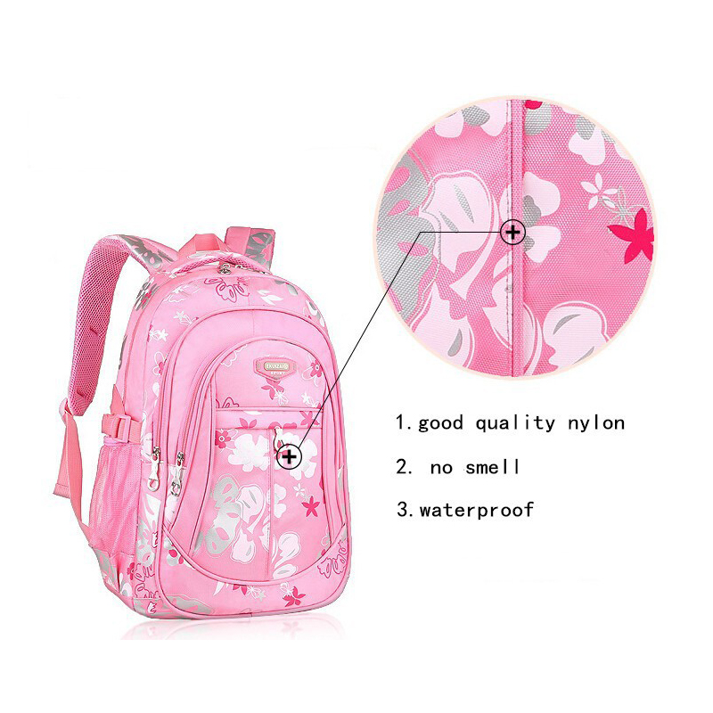 2017 Kindergarten Orthopedic Backpack For Children Waterproof Nylon 3d Print Flower School Bags S Pink Primary In From Luggage On