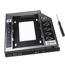 """Универсальный SATA 3,0 2nd HDD Caddy 9,5 мм для 2,"""" SSD чехол HDD корпус с светодиодный для ноутбука DVD CD rom, материал пластик сталь"""