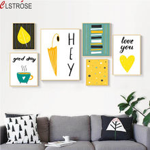 CLSTROSE Modern Cartoon Creative Patterns Art Canvas Painting Posters Children's Room Home Decor Wall Art Pictures No Frame(China)