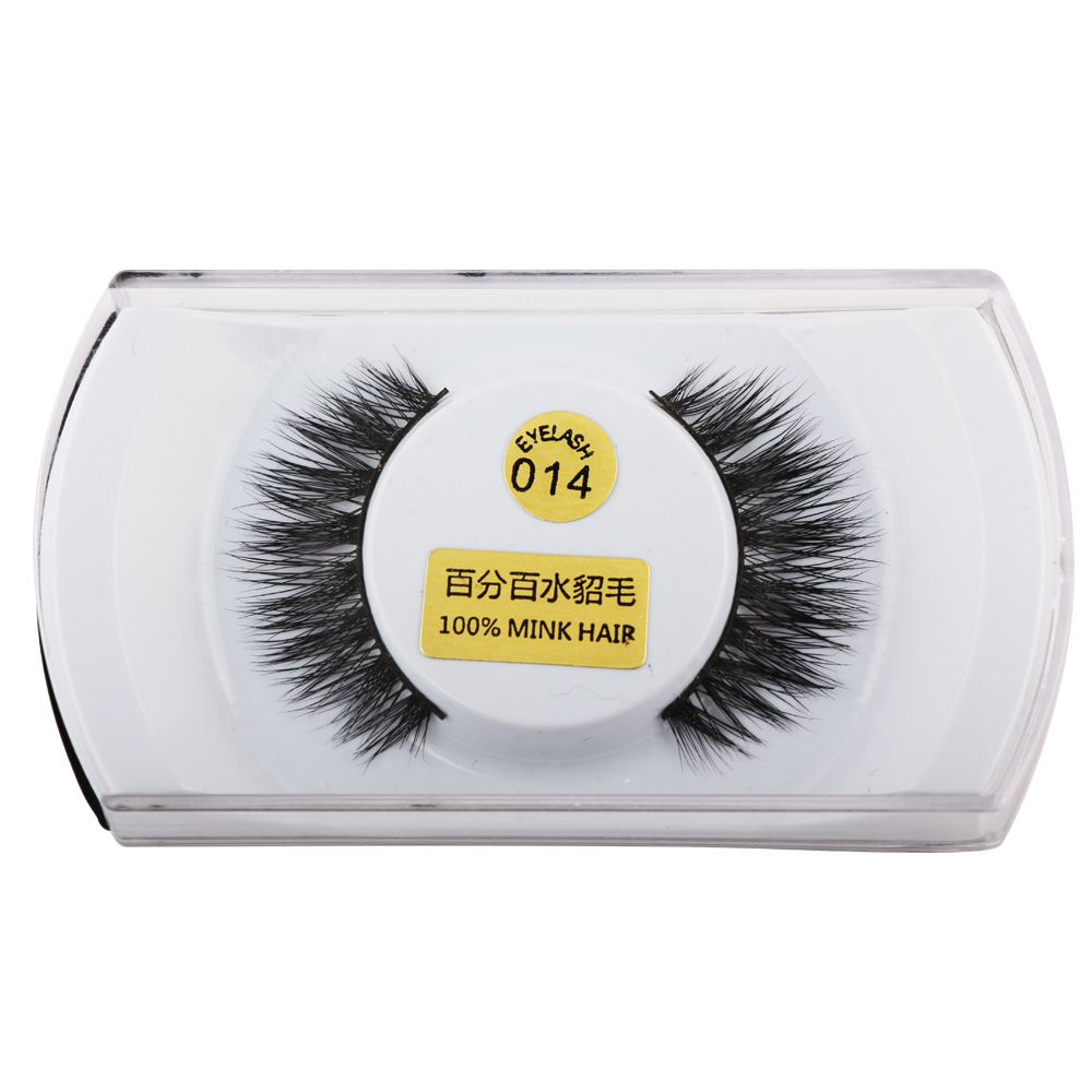 3D Mink False Eyelashes 100% Real Mink Eyelashes cross Handmade Makeup Thick False Eyelashes Daily Makeup Tools Eye Lashes