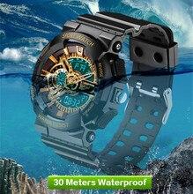 SANDA Sport Men G Style Shock Watch Top Electronic Watches New Digital Wristwatch Waterproof Men's Clock Military Relogio 2018