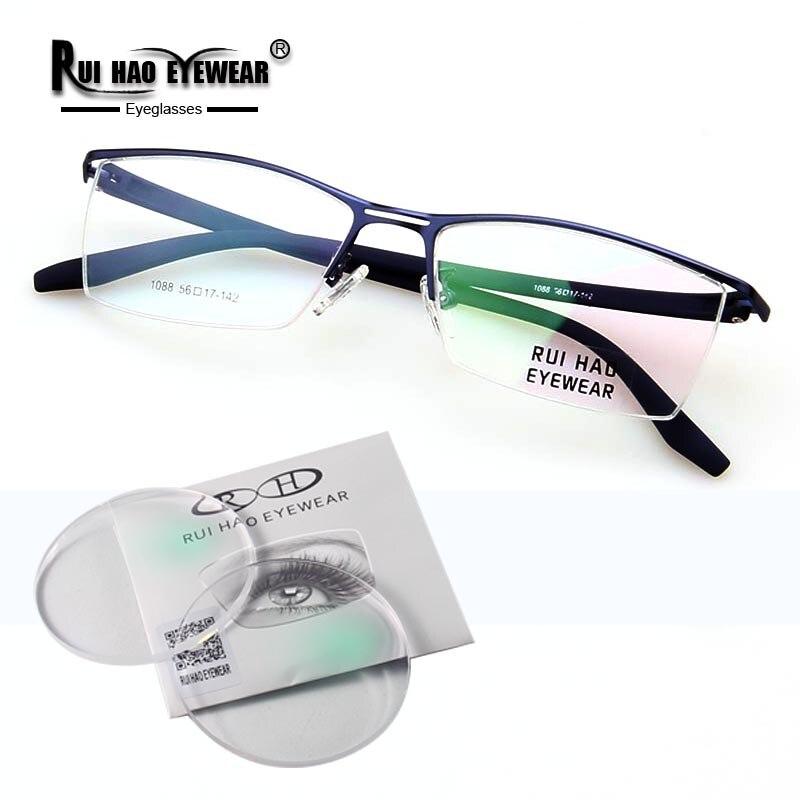 Customize Prescription Eyeglasses Super Light Glasses Frame Clear Resin Lenses Optical Glasses Myopia Progressive Spectacles