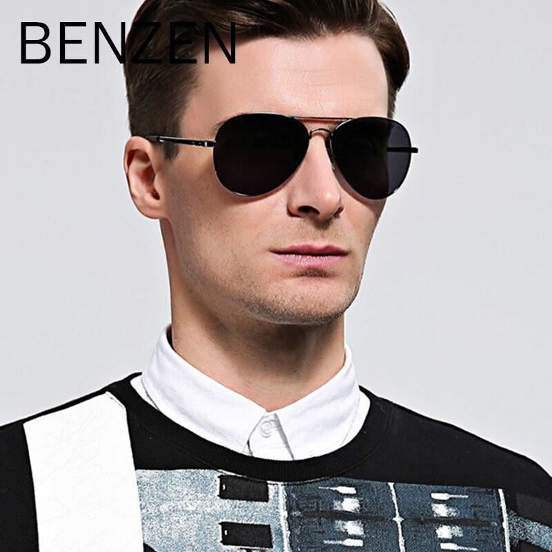 BENZEN Polarized Saulesbrilles Vīriešu zīmola dizaina - Apģērba piederumi