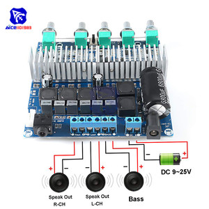 Image 5 - TPA3116 2.1 Audio Amplifier Board DC 12 24V Digital HIFI Subwoofer Amplifier Module Super BASS Speaker Module 50W+50W+100W